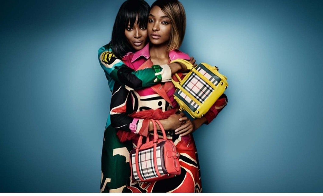 Naomi-Campbell-and-Jourdan-Dunn-for-Burberry-SS15 Campaign