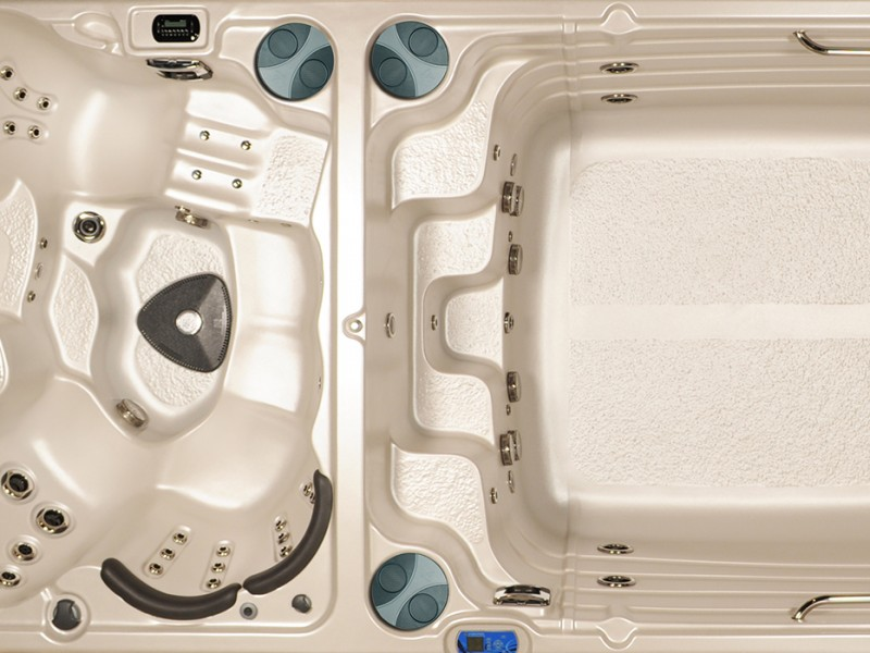 Over view of a Hydropool Hot-tub