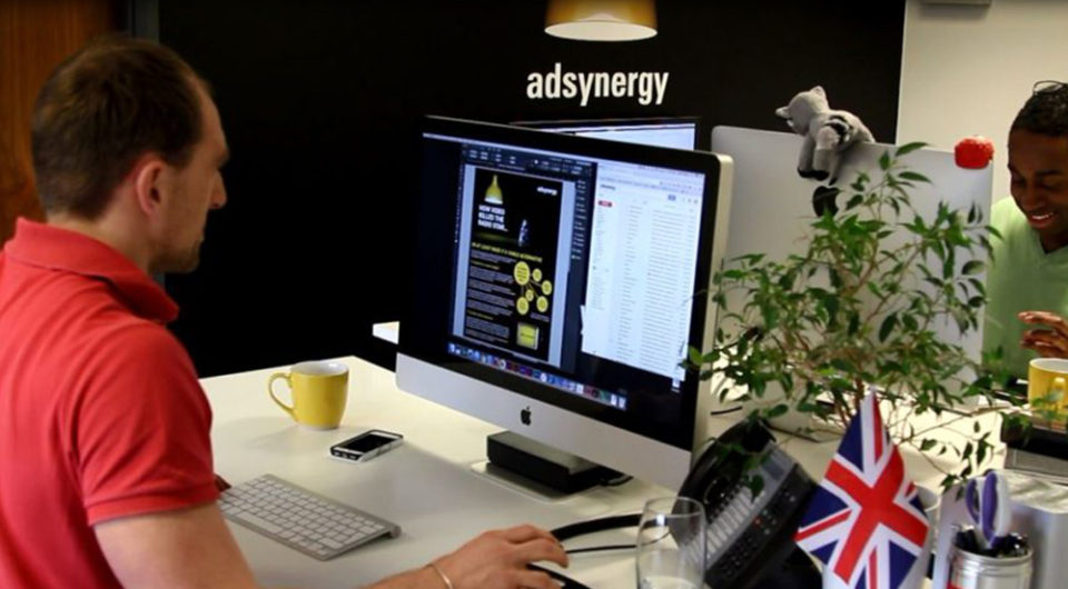 A still image from a gif we created taken at the adsynergy marketing agency in Leamington Spa.